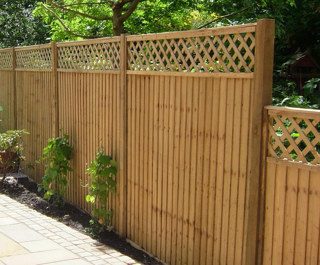 Feather Edge Panel With Trellis 255122453 Large Fence Installation
